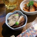 魚庵 - <1月>ビールセット(小鉢)