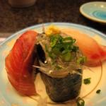 廻転寿司 伊豆太郎 - 地魚の3種盛り