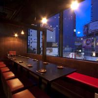 ★渋谷の夜景を一望★6名~12名様迄の窓側完全個室