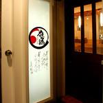 庭つ鶏 - 半地下の入口の扉