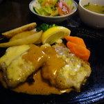紅屋 - 2009.6日替わりランチ「白身魚のチーズ焼き」