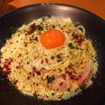 パッセジャーレ - 「つまんでご卵」のカルボナーラ