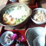 めんめんたなか - 料理写真:鍋焼きうどん1,100円