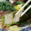 """ホテル桃源 - 料理写真:""""富山湾の宝石""""白えびを昆布締めで"""