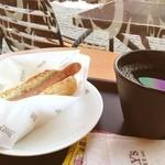 タリーズコーヒー - ドッグプレーン セット 490円