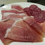 Fix - 料理写真:イタリア産生ハムとサラミの盛合せ
