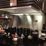 博多一双 - 以前の七輪焼屋そのままの内装です。