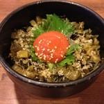 天山の湯 だいにんぐ - 4天山の湯だいにんぐのミニ丼 高菜明太子450円(13.01)