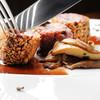 クレメンティア - 料理写真:ナッツをまぶした日野の鹿肉ロースオーヴン焼き 赤ワインソース