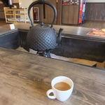 松川温泉 峡雲荘 - 食後はコーヒーなんぞ頂きまして