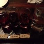 黒猫夜 - 紹興酒三種類利酒 オススメ!