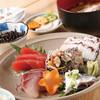 海辺 - 料理写真:刺身の盛り合わせ定食