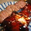 けむり - 料理写真:看板メニューのもつ<レバー>、はつ<心臓>