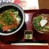 ぽんぽこ - 料理写真:サーモン丼と小うどん