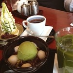 麻布茶房 - 『抹茶アイスクリームぜんざい