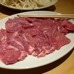 ジンギスカン北の羊 - 料理写真:ラム肉