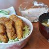 育風堂精肉店 - 料理写真:【ソースかつ丼】 \900 豚フィレカツをソースにくぐらせてあります。みそ汁、小鉢、香物付き