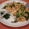 杏李 - 料理写真:【海老と季節の野菜の塩味炒め】