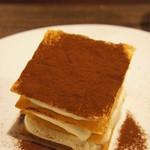 ボノミー - マスカルポーネのフイヤンティーヌ コーヒーのソース(700円)