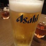 らぁ~めん京 - 生ビール