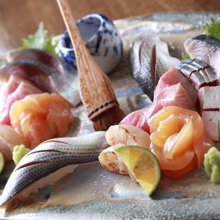特撰の鮮魚をふんだんにご用意しております