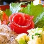 魚河岸割烹さかなや千本一 - 魚河岸海鮮丼、マグロ