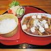 馬美舞辺母 - 料理写真:コラーゲンいっぱいの牛すじ煮込み(北海道産)セット990円 大人気です。