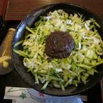 まるじゃ - じゃじゃ麺並650円+きゅうり増し100円
