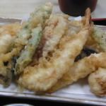 やぶ茂 - 天ざる950円の天ぷらup