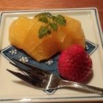 雲海 - 【天麩羅御膳】果物。