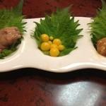 巣鴨三浦屋 - 肝臓、卵、心臓、脾臓
