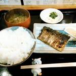 夢屋 - 塩鯖の炭火焼定食¥550