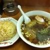 餃子会館 - 料理写真:ラーメン450円と炒飯600円