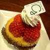 gala - 料理写真:「いちごのタルト」(350円)。見た目からして間違いないですね。