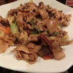 刺身屋新太郎 - コレナイ豚と五目野菜のビリ辛味噌炒め