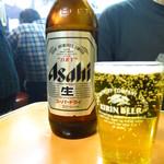 大衆焼肉本店 - ビール(大びん)500円