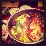レストラン Tera - シャモロックスープ薬膳火鍋コース¥3000