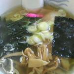 ラーメン ちゃー亭 - 半ラーメン+半豚玉丼850円の半ラーメン(塩)2013/02