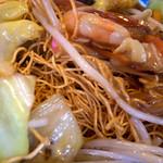 チャイナ食堂かしん - 皿うどん(パリパリ)。ソースが効いたお味で、とっても美味しかったです。