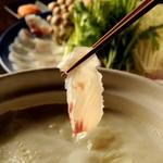 銀座 竹の庵 - 天然桜鯛の豆乳しゃぶしゃぶ