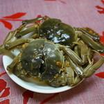上海小吃 - 酔蟹(小1匹800円)生の上海蟹を白酒に漬けて