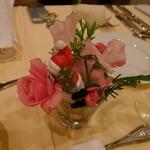 ボン・マリアージュ - テーブルのお花