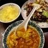 中国料理 華明閣 - 料理写真:ランチ:回鍋肉片680円とサービスの卵とトマトのあんかけ
