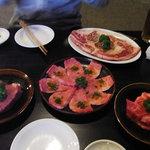 楓庵 - 二人コース 6300円 ヒレ、塩カルビ、カルビ(タレ)、リブロース