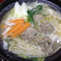 大山地鶏団子鍋