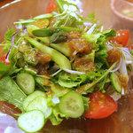 あぶ家 - あぶ家のグリーンサラダ、580円。