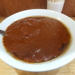 大沢食堂 - 極辛カレーラーメン、下の大辛カレーラーメンと比べてみてください!