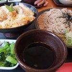 和食れすとらん 天狗 - 日替わりランチ(蕎麦とカツ丼)