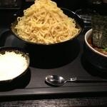 麺屋永吉 花鳥風月 - カリーつけ麺、チーズライス(1200円)