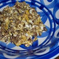 アシュクルク - モルシージャの炒り卵(スペイン料理:定番 ¥380)